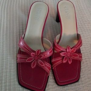 Pretty in Pink Franco Sarto ladies sandal